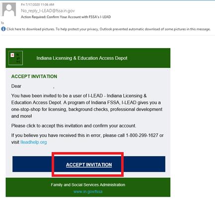 Accept invitation screenshot