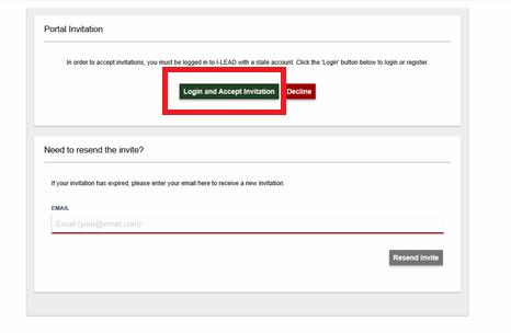 click login and accept invitation screenshot
