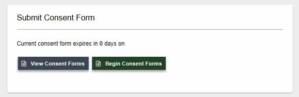 Submit consent form screenshot